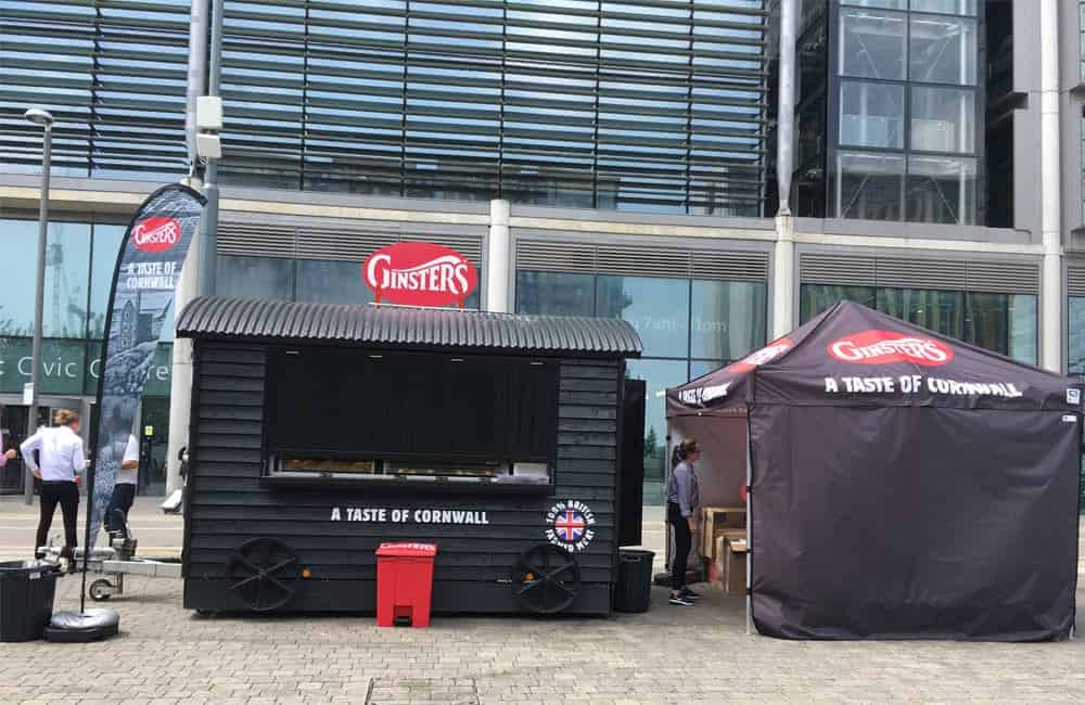 Ginsters experiential outdoor event graphics | XG Group