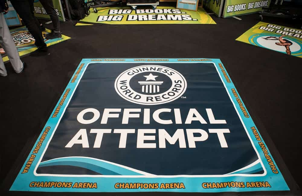 Floor Graphics for Guinness World Records Live Events Roadshow | XG Group