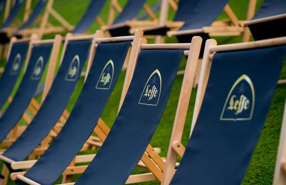 Branded Deck Chairs | Leffe Beer Sponsored Outdoor Cinema Events