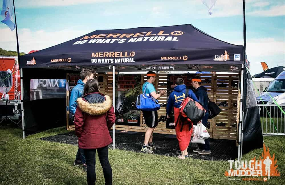Branded Gazebo at Tough Mudder Events