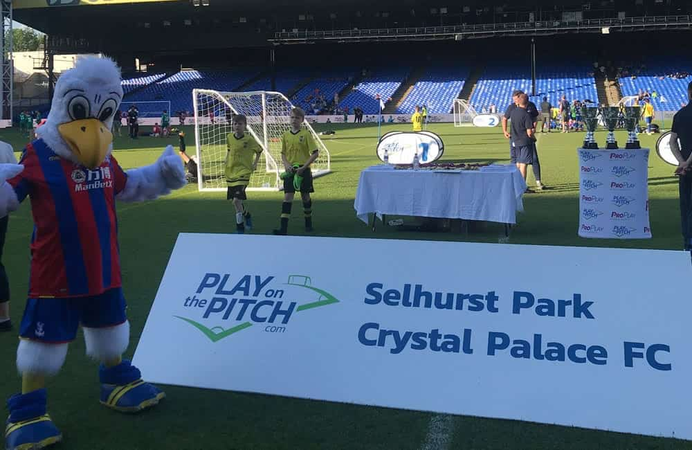 Play on the Pitch printed toblerone event signage | XG Group