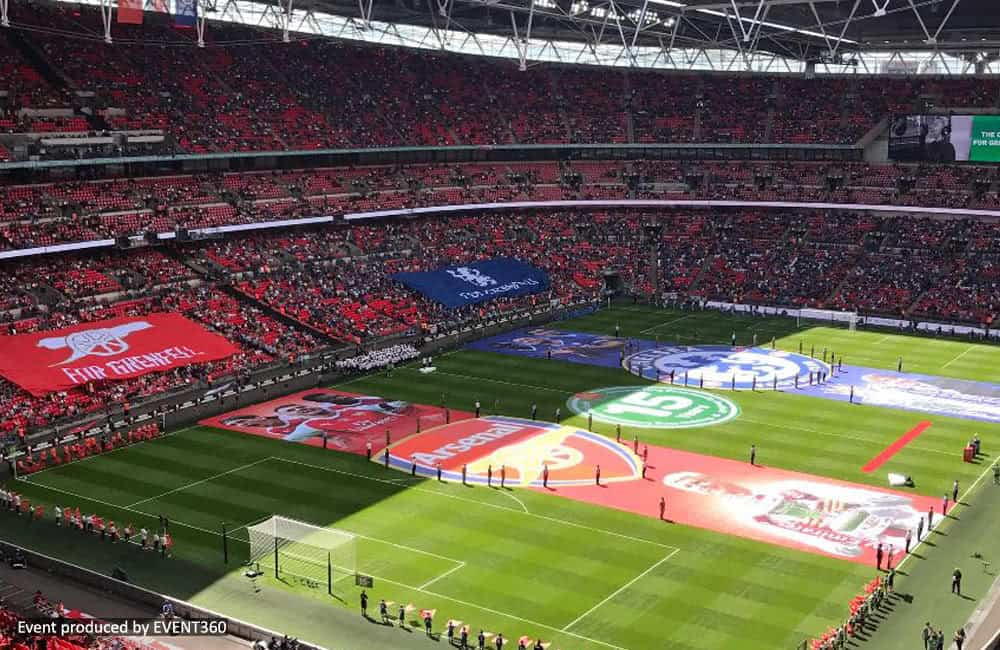 Printed Community Shield Pitch Banners at Wembley | XG Group