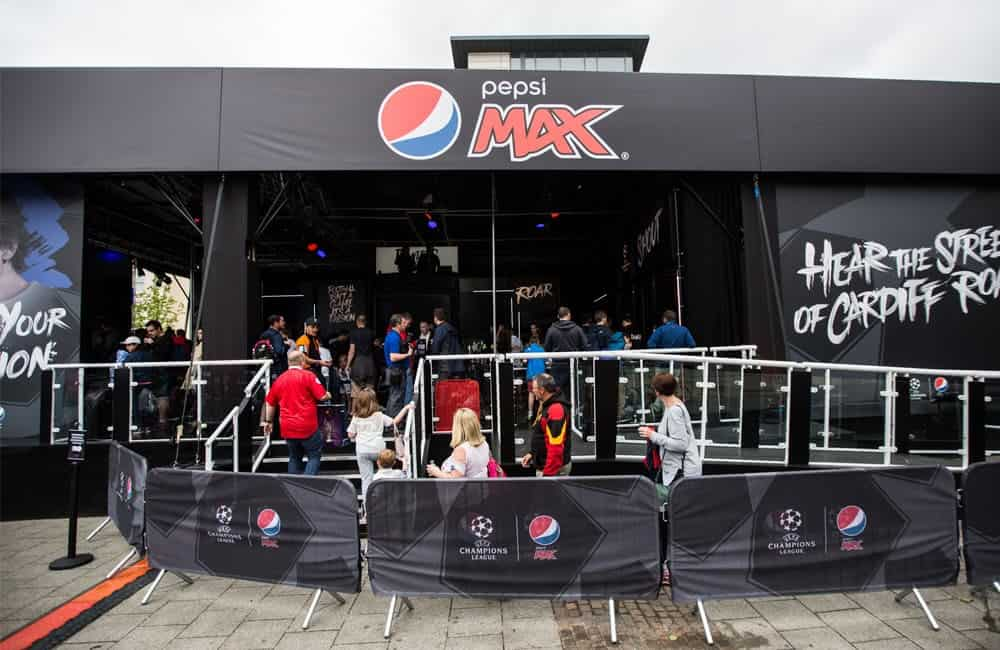 Pepsi Max Outdoor Event Graphics | XG Group