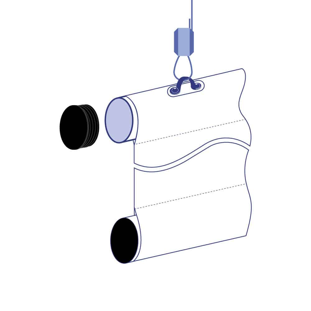 Hanging Pole Banners | Assembly System Diagram