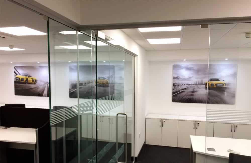 Office wall graphics for automotive retailer | XG Group