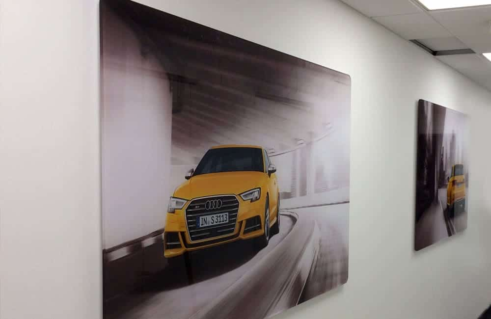 Office graphics for automotive retailer | XG Group