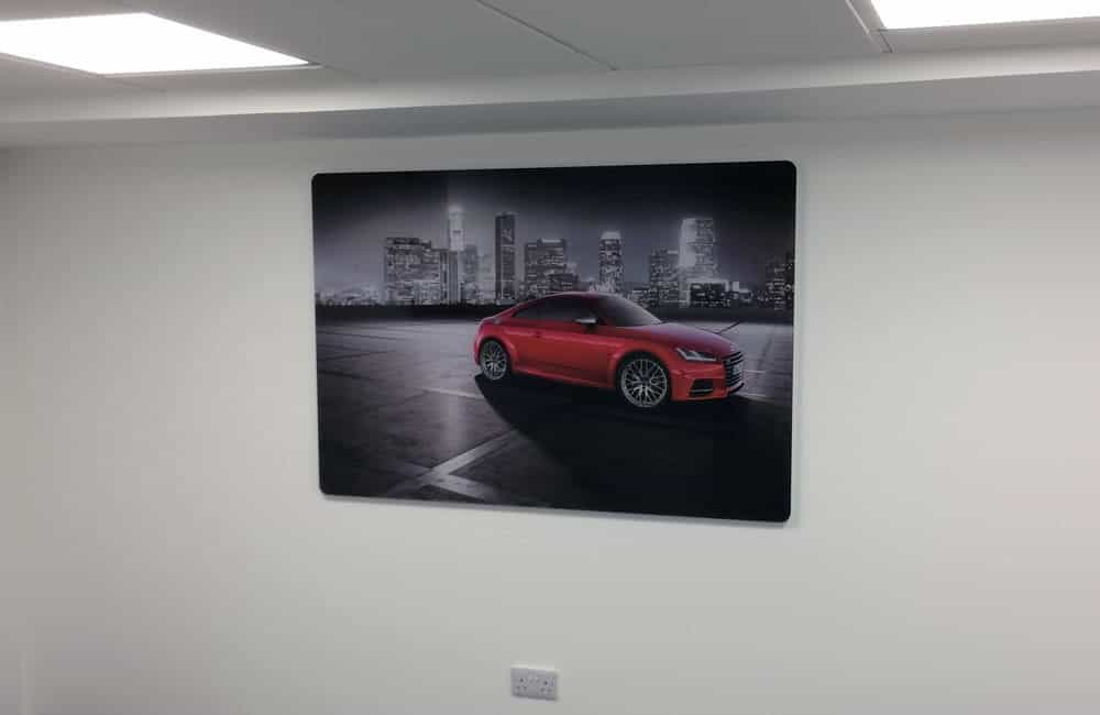 Rear mounted office graphics for international automotive retailer | XG Group