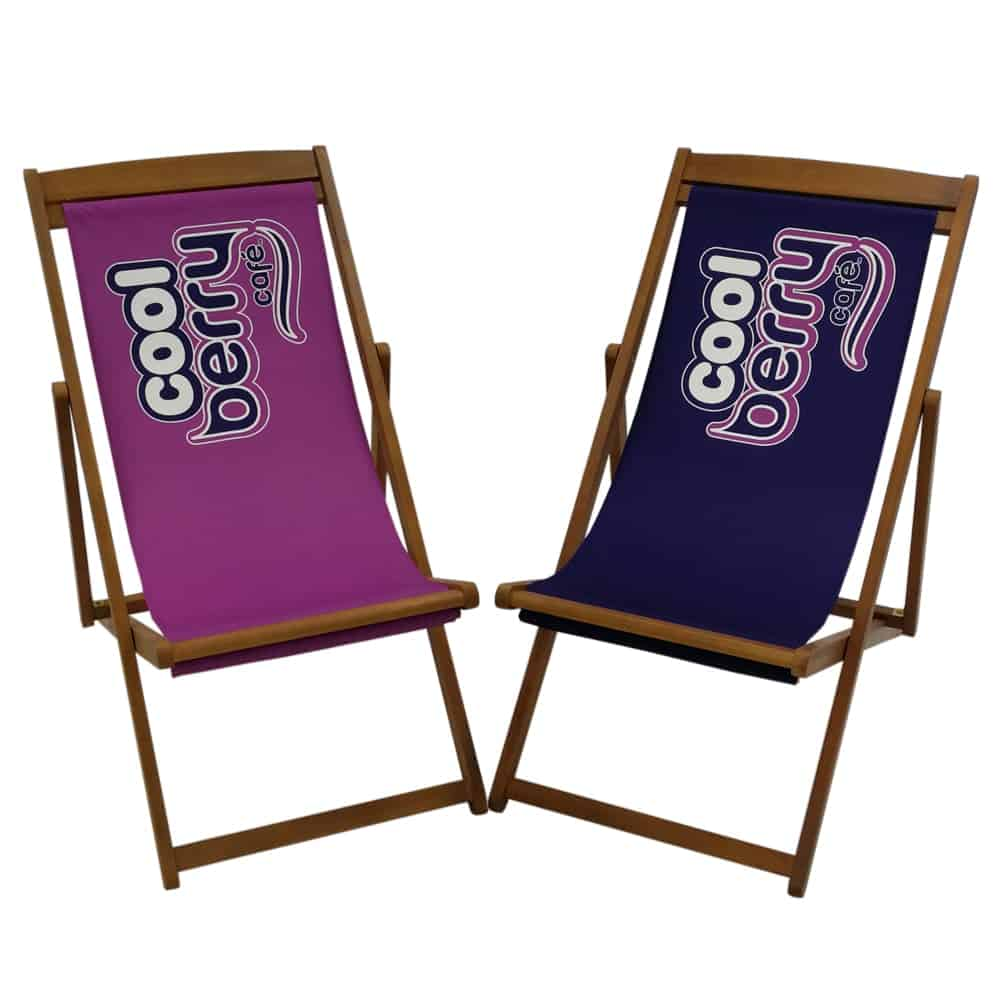 Custom printed deck chairs with interchangeable graphics | XG Group