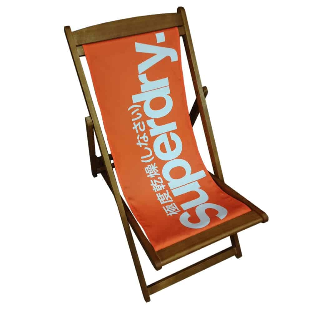 Branded deckchair printing | XG Group
