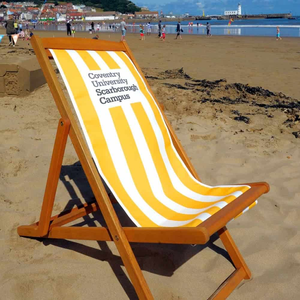Full colour branded deck chairs | XG Group