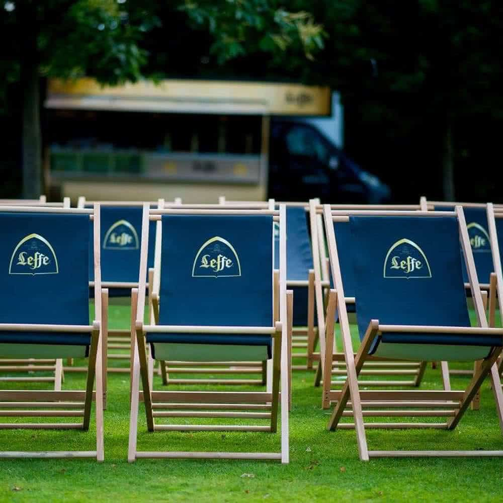 Branded deckchairs with interchangeable graphic canvas slings | XG Group
