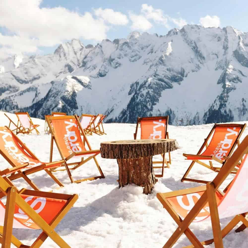 Branded deckchairs for Superdry promotional events | XG Group
