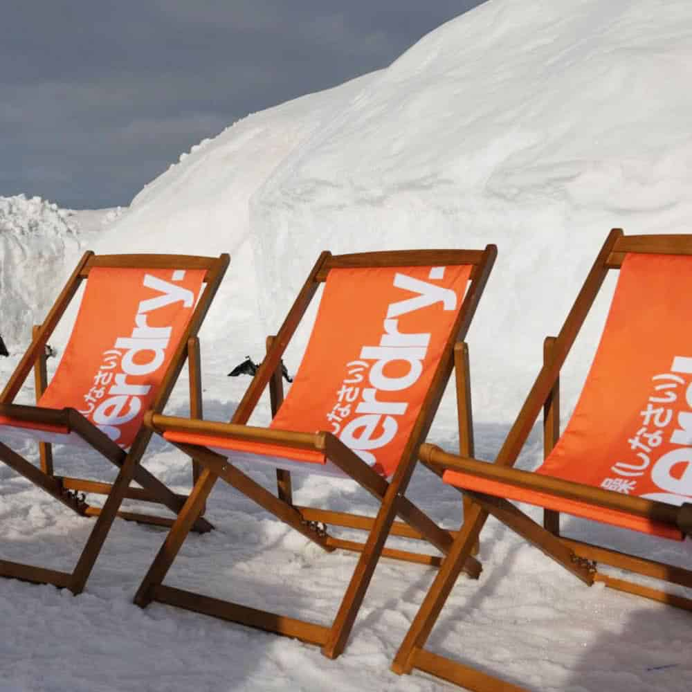 Branded deckchair printing for events and promotions | XG Group