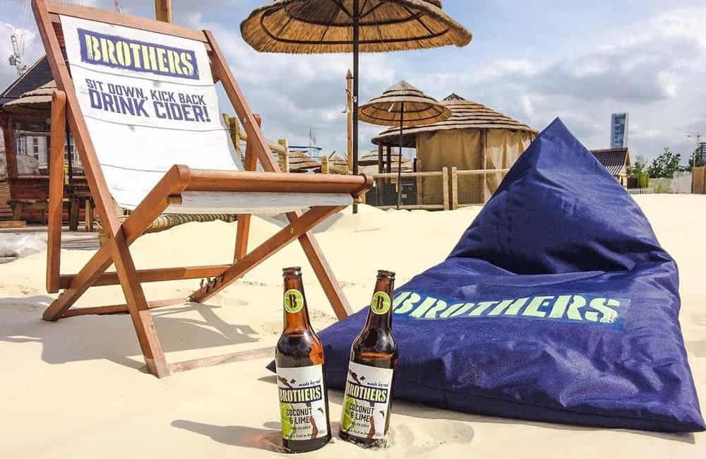 Branded deck chairs for Brothers Cider promotions | XG Group