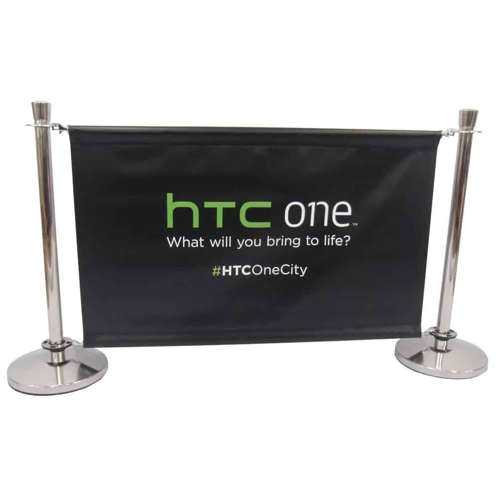 Custom printed cafe barriers | XG Group