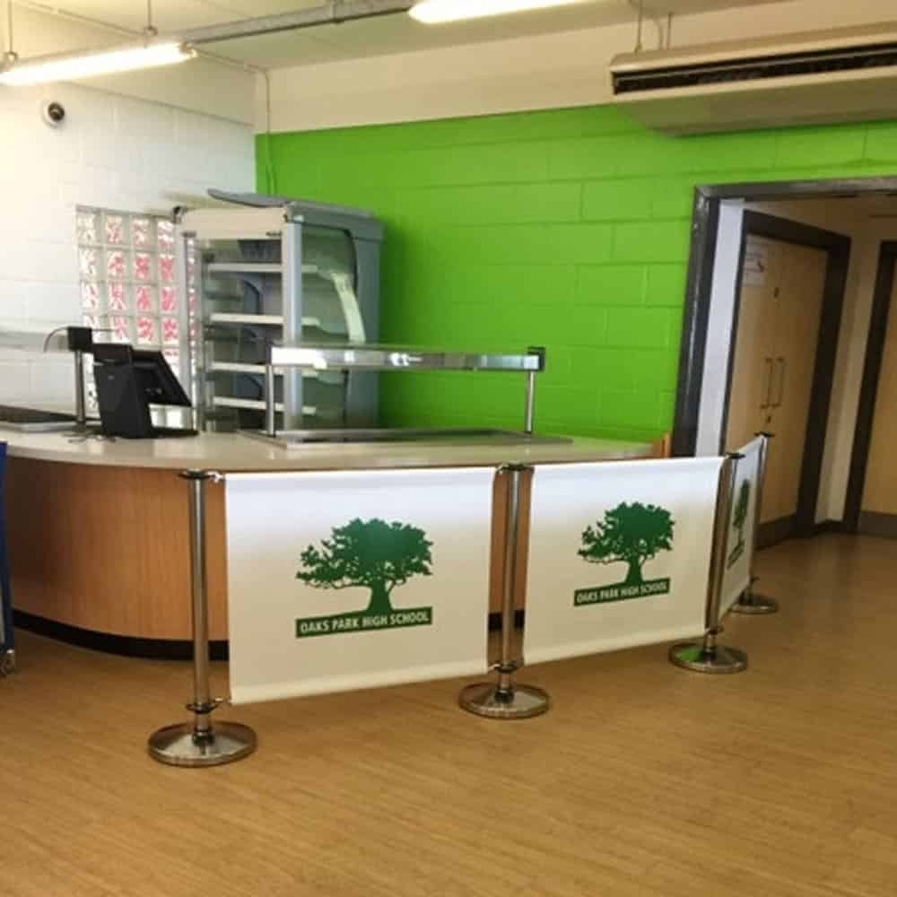 Printed cafe barriers | XG Group