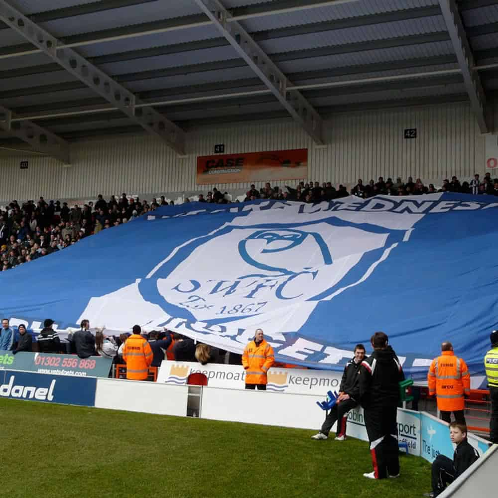 Sheffield Wednesday FC printed crowd banner | XG Group