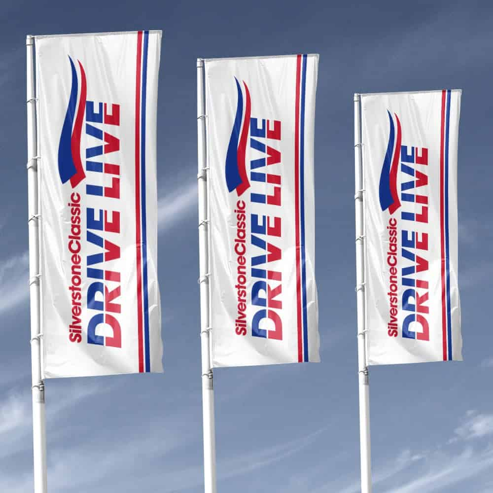 Printed Custom Flags in range of shapes and sizes | XG Group