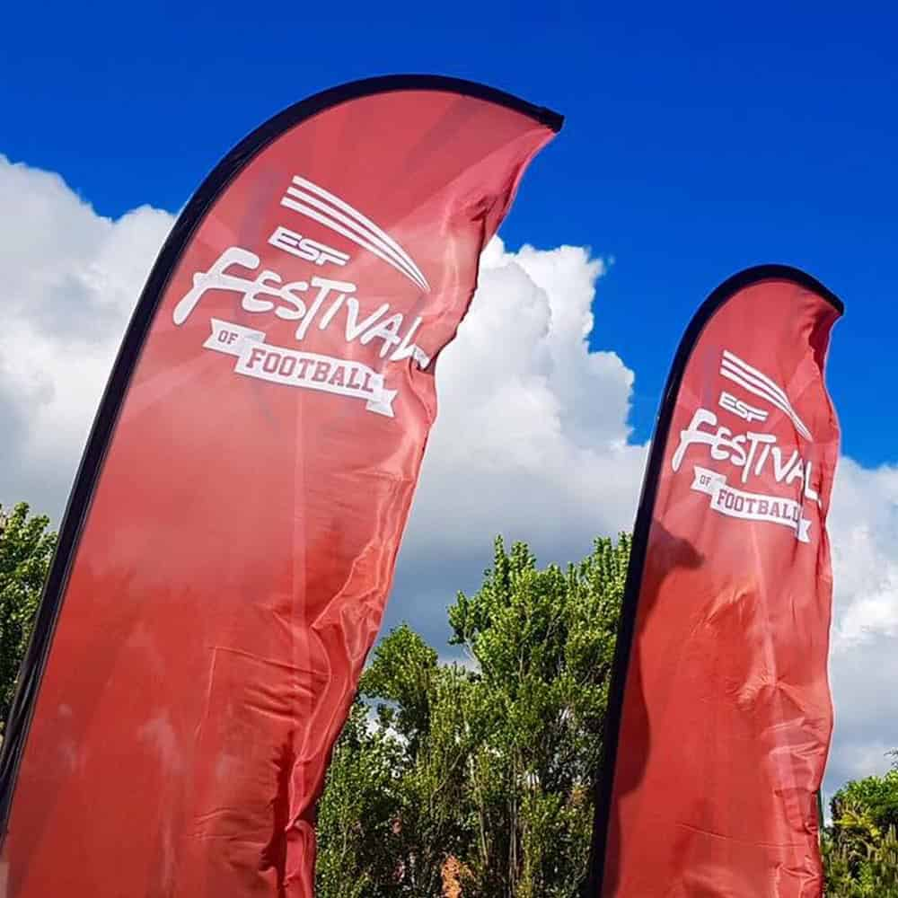 Football Festival Printed Event Flags | XG Group