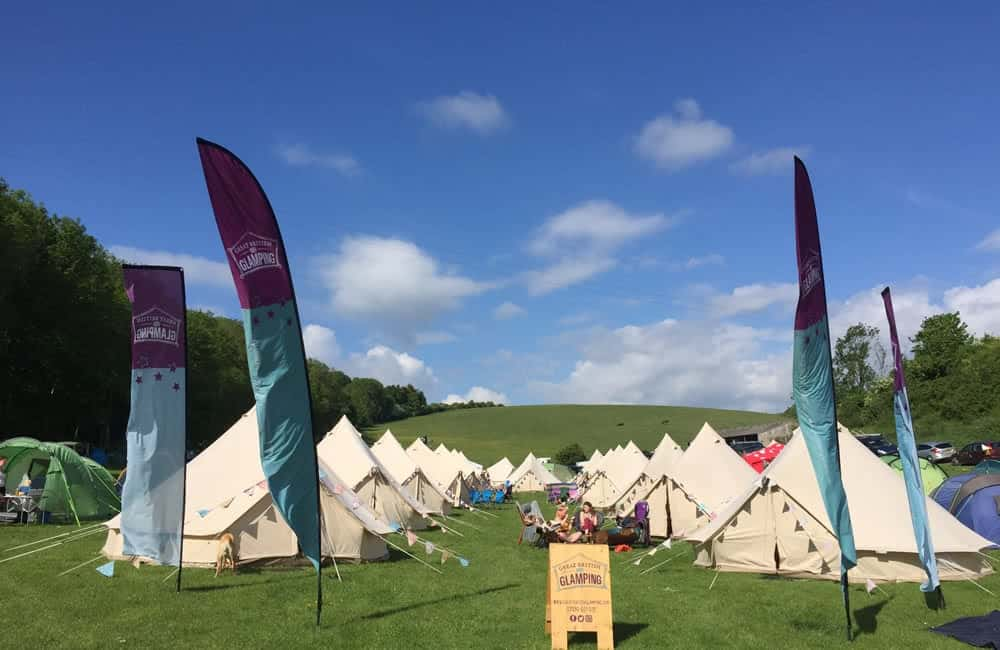 Large double sided flags for Great British Glamping | XG Group