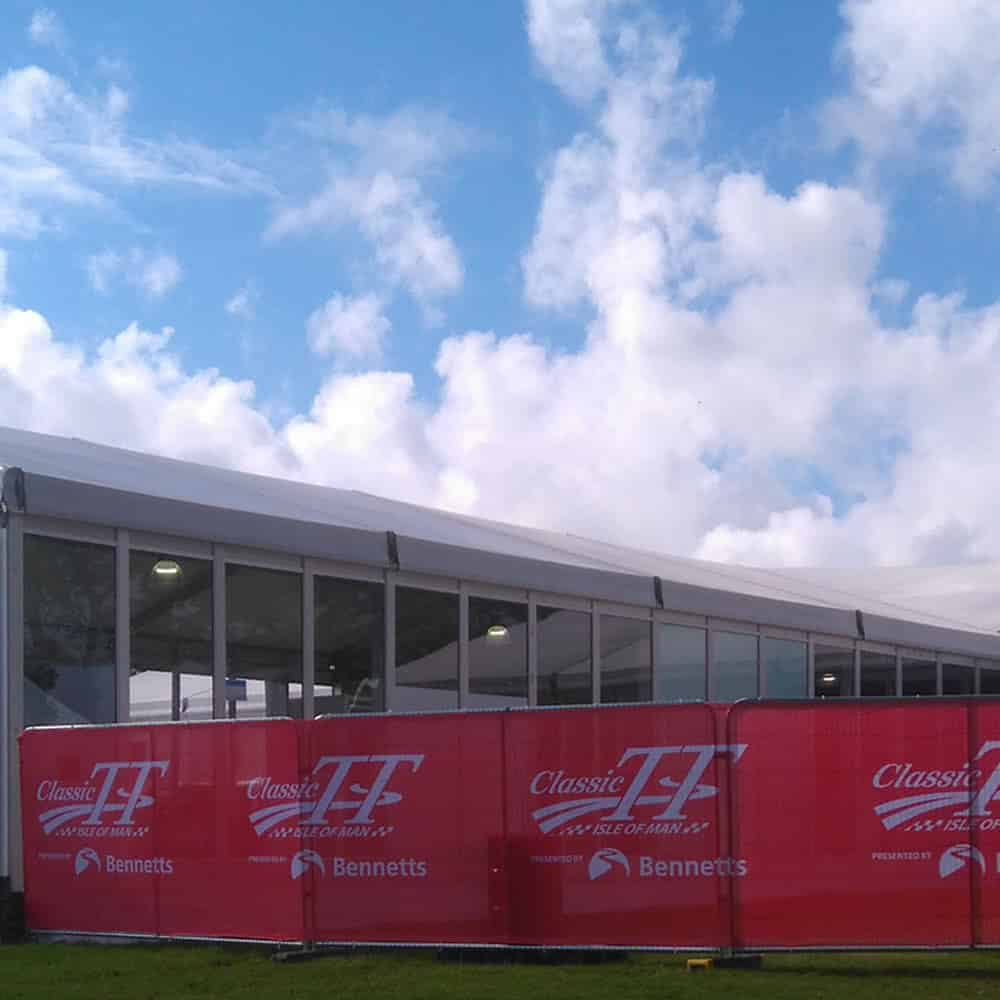 Branded mesh banners for events   XG Group