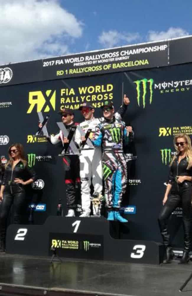 Branded podium at FIA World Rallycross Championship | XG Group