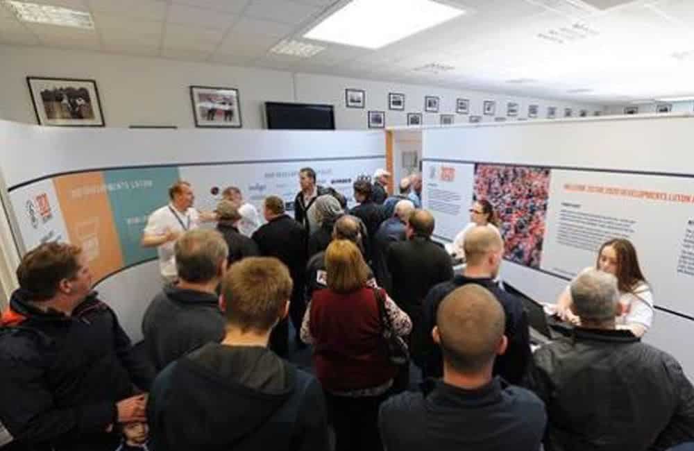 Luton FC public consultation modular display graphics | XG Group