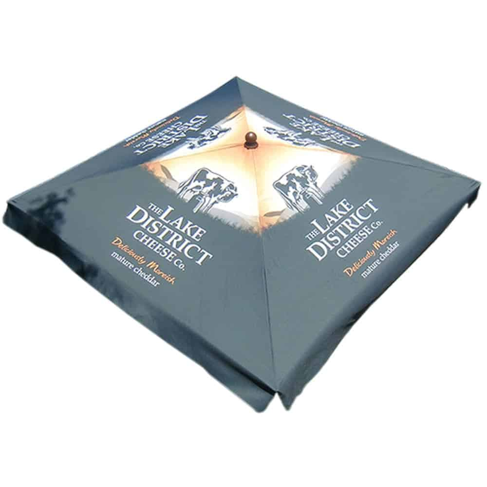 Branded square promotional parasols | XG Group