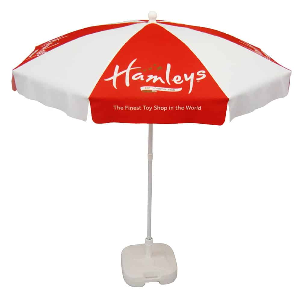Branded parasols for events and promotions | XG Group