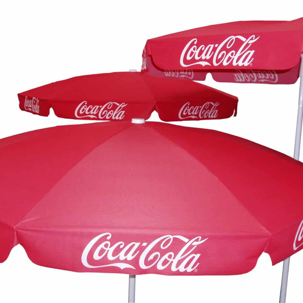 Full colour digitally printed branded parasols | XG Group
