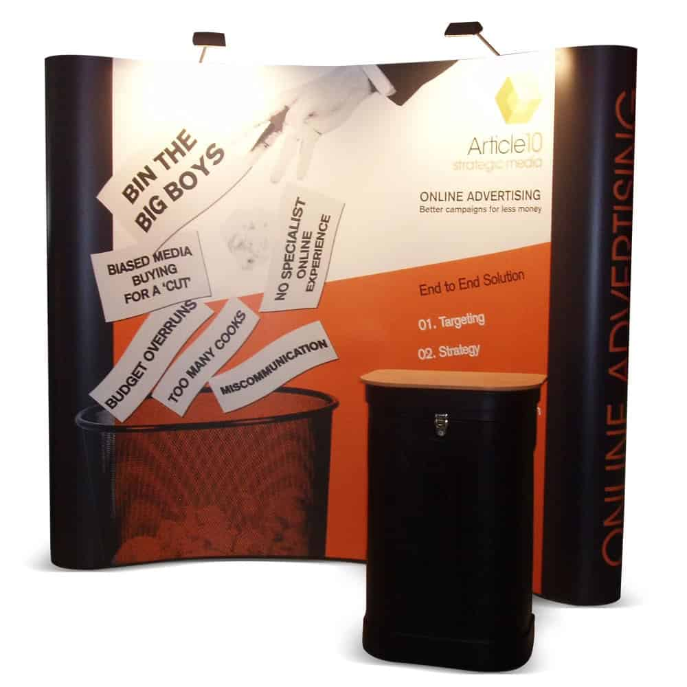 Pop up display stands with counter and lights | XG Group
