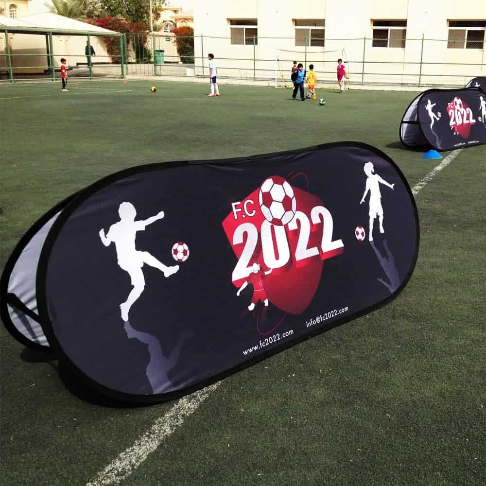 Branded pop out banners for events | XG Group