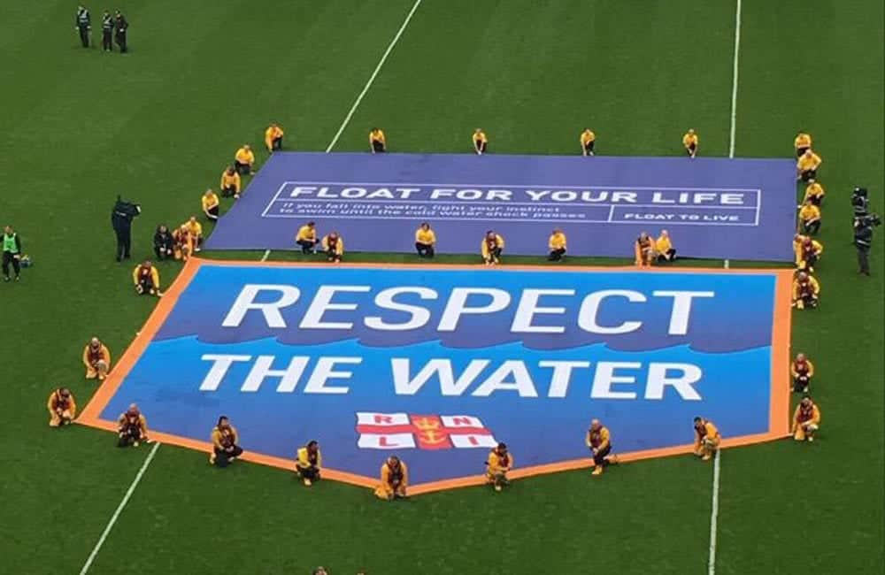 RNLI branded giant pitch banners | XG Group