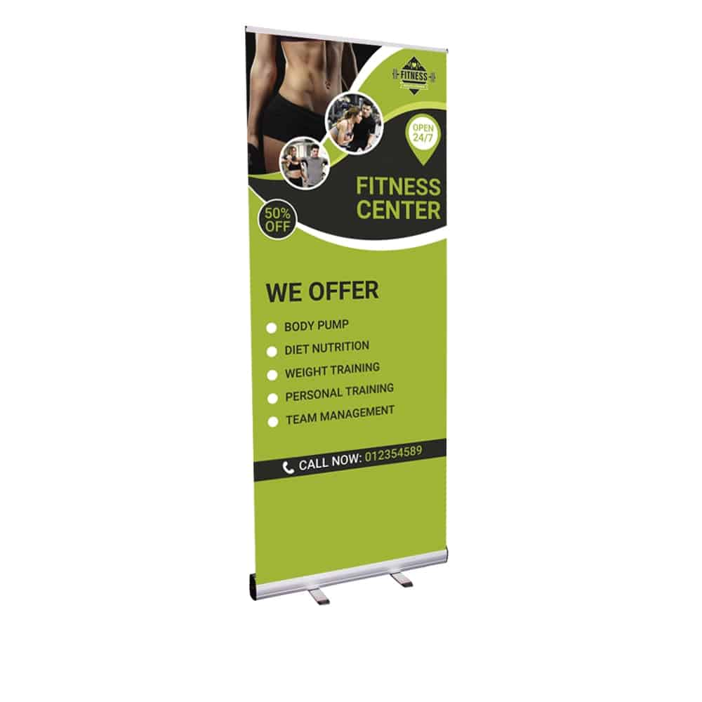 Economy roller banners custom printed in-house | XG Group