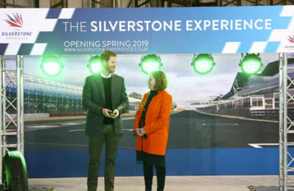 Silverstone Experience Event Graphics with Prince Harry | XG Group