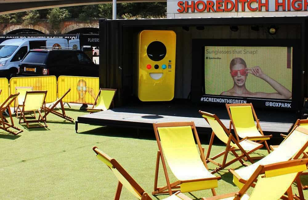 Printed deck chairs for Snapchat Spectacles UK launch | XG Group