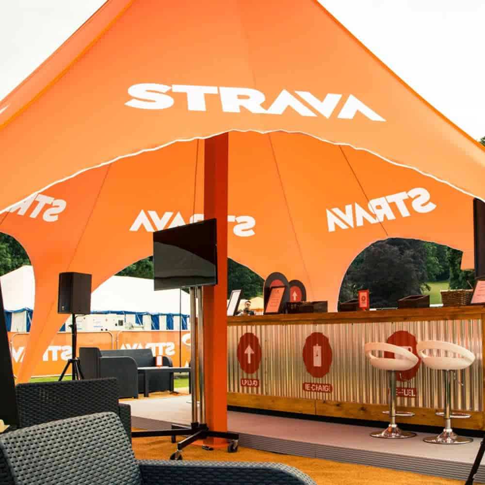 Custom printed star tents for events | XG Group