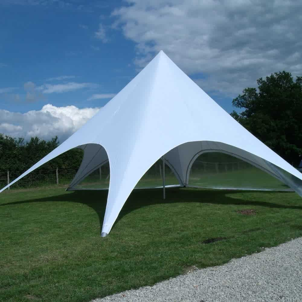 Plain white single peak star tent | XG Group