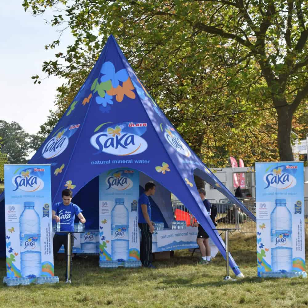 Branded Star Tents | Full Colour Printed