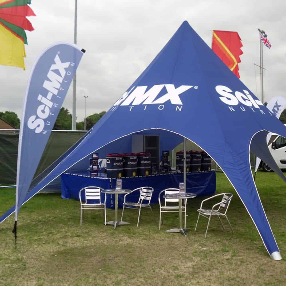 Printed Star Tents | Full Colour Printed