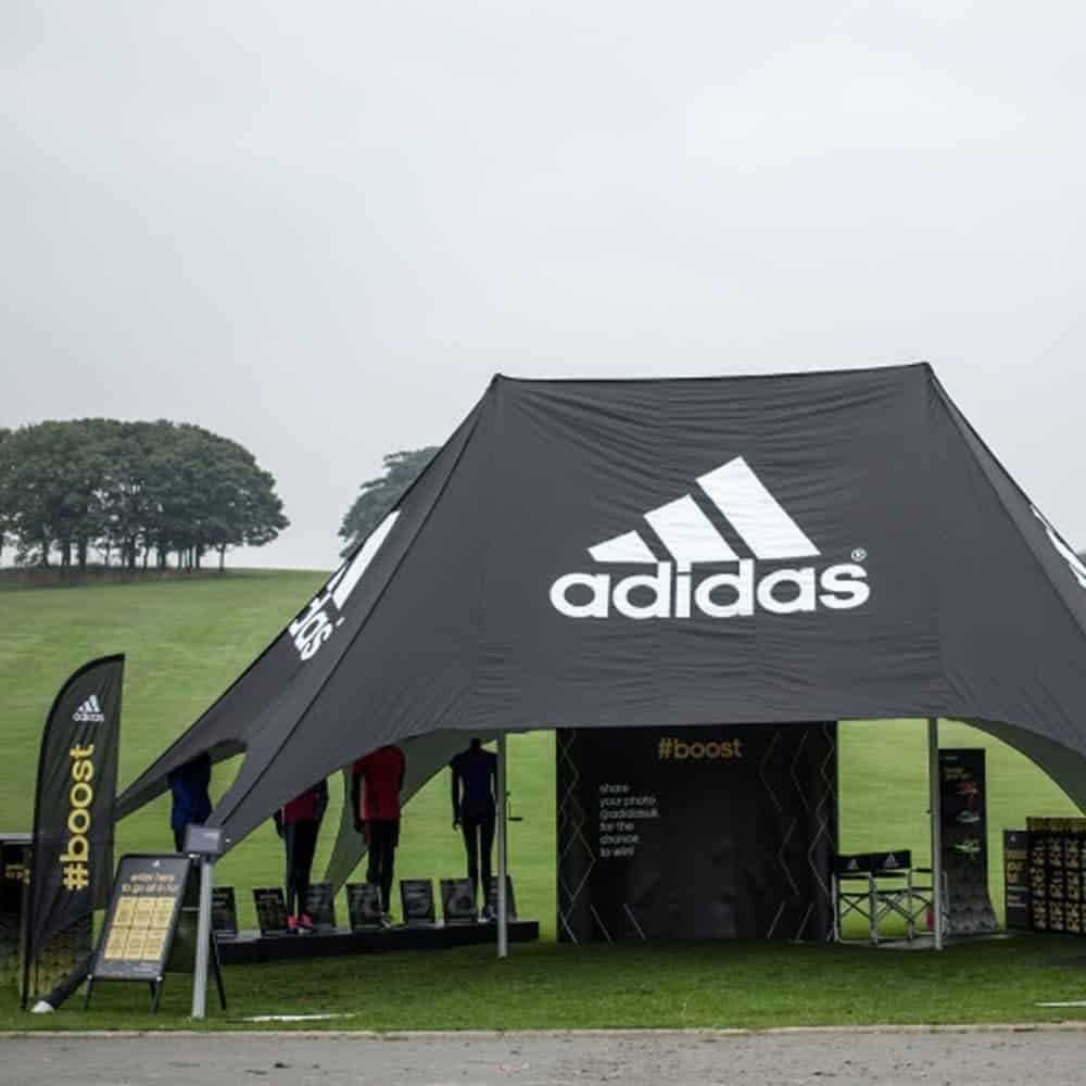 Branded Double Peak Star Tent | XG Group