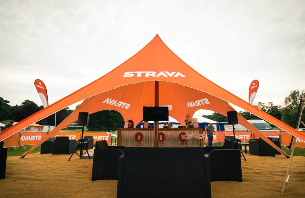 Branded Custom Printed Single Peak Star Tents | XG Group