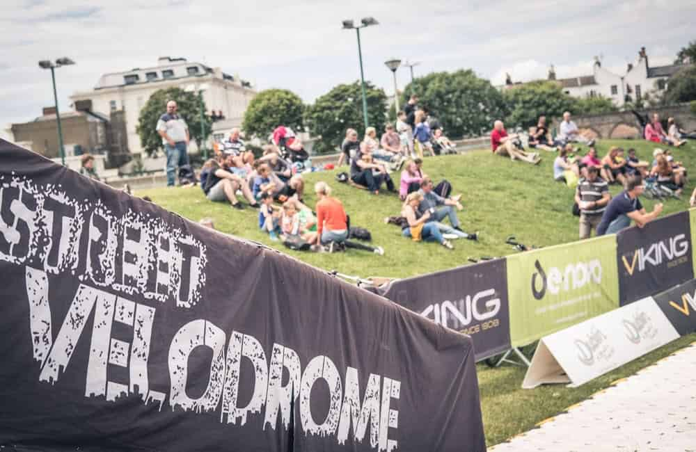 Branded barrier covers for StreetVelodrome events | XG Group