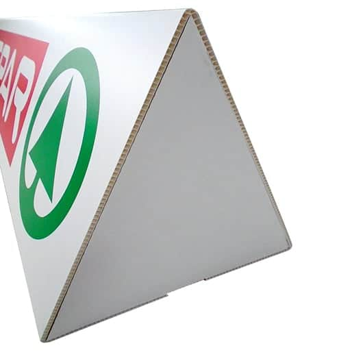 Printed toblerone event signage with unprinted end caps | XG Group