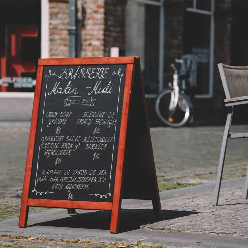 Chalkboard pavement signs | XG Group