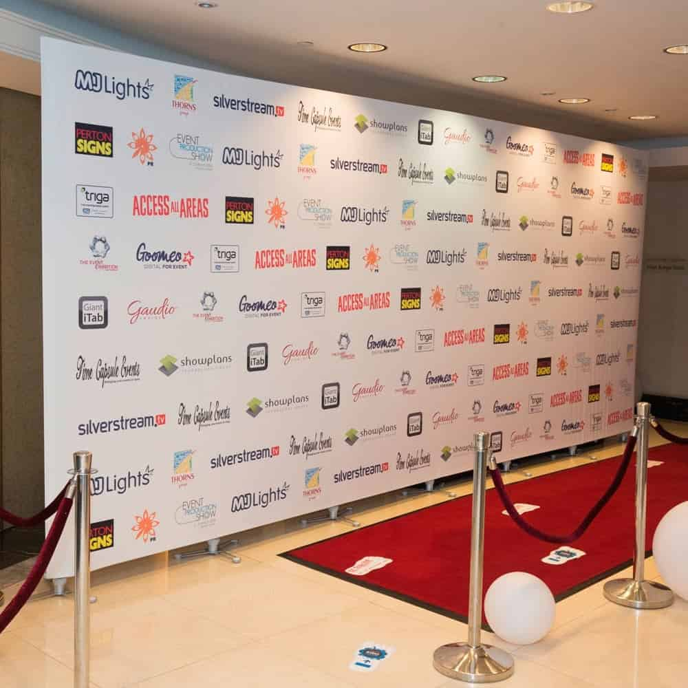 Printed Interview Backdrops | Media Walls