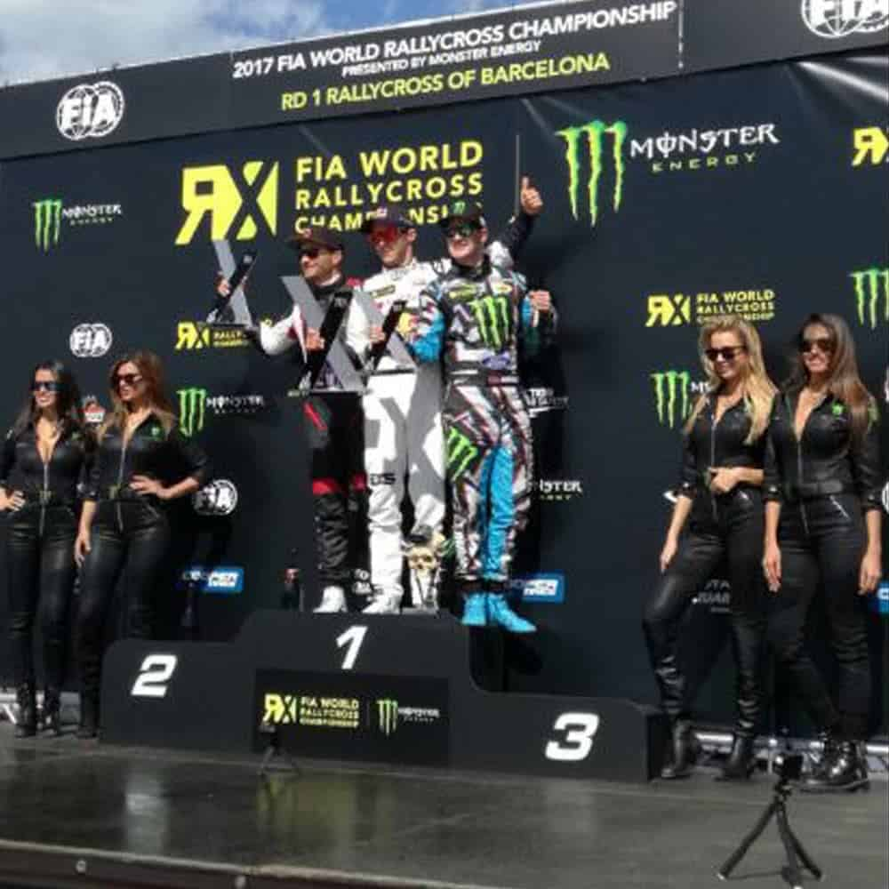 FIA World Rallycross Winners Podium Backdrop