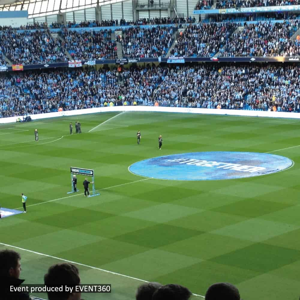 Centre Circle Banners printed with club branding | XG Group