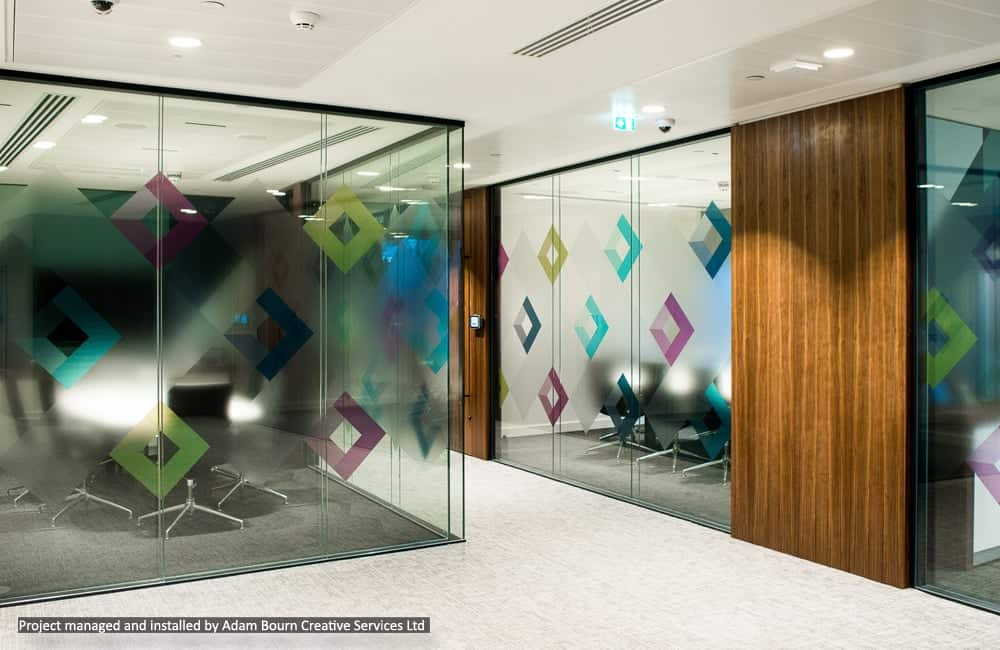 Commercial Office Interior Window Graphics