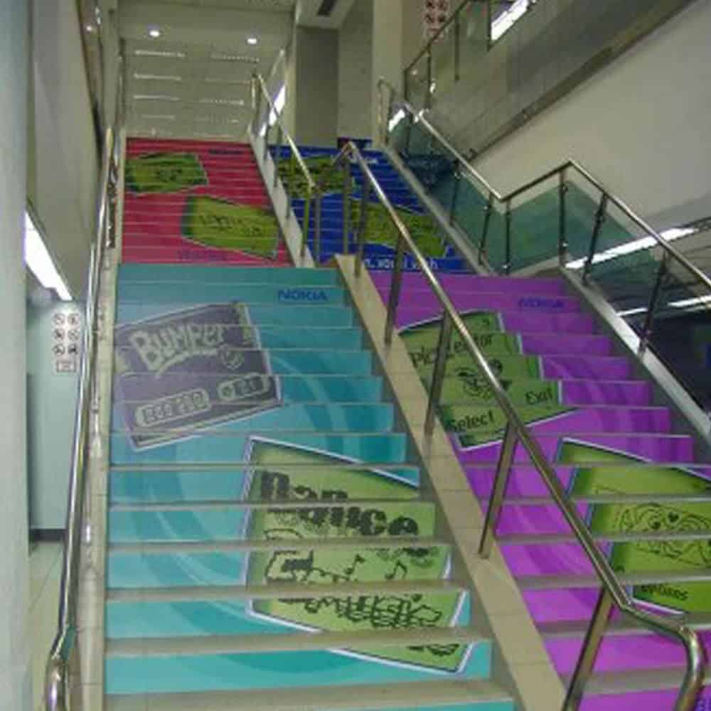 Floor graphics on stairs | XG Group